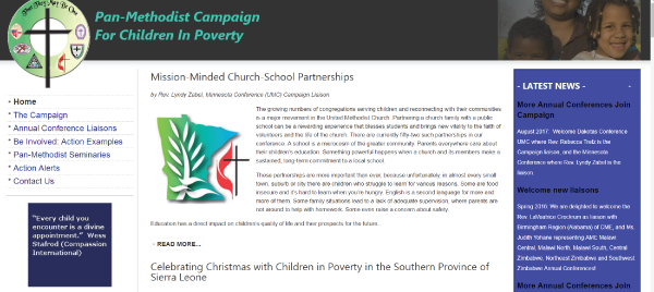 Pan-Methodist Campaign for Children in Poverty
