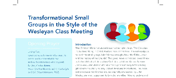 Transformational Small Groups in the Style of the Wesleyan Class Meeting