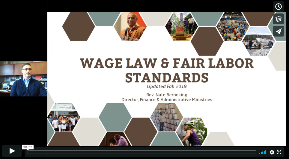 Fair Labor Standards and the Church Webinar