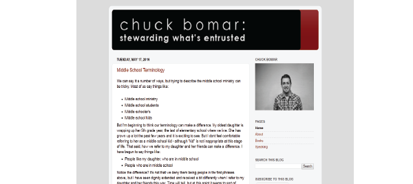 Chuck Bomar: Stewarding What's Entrusted