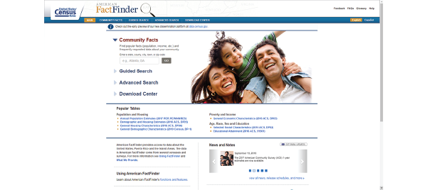 Census Fact-Finder
