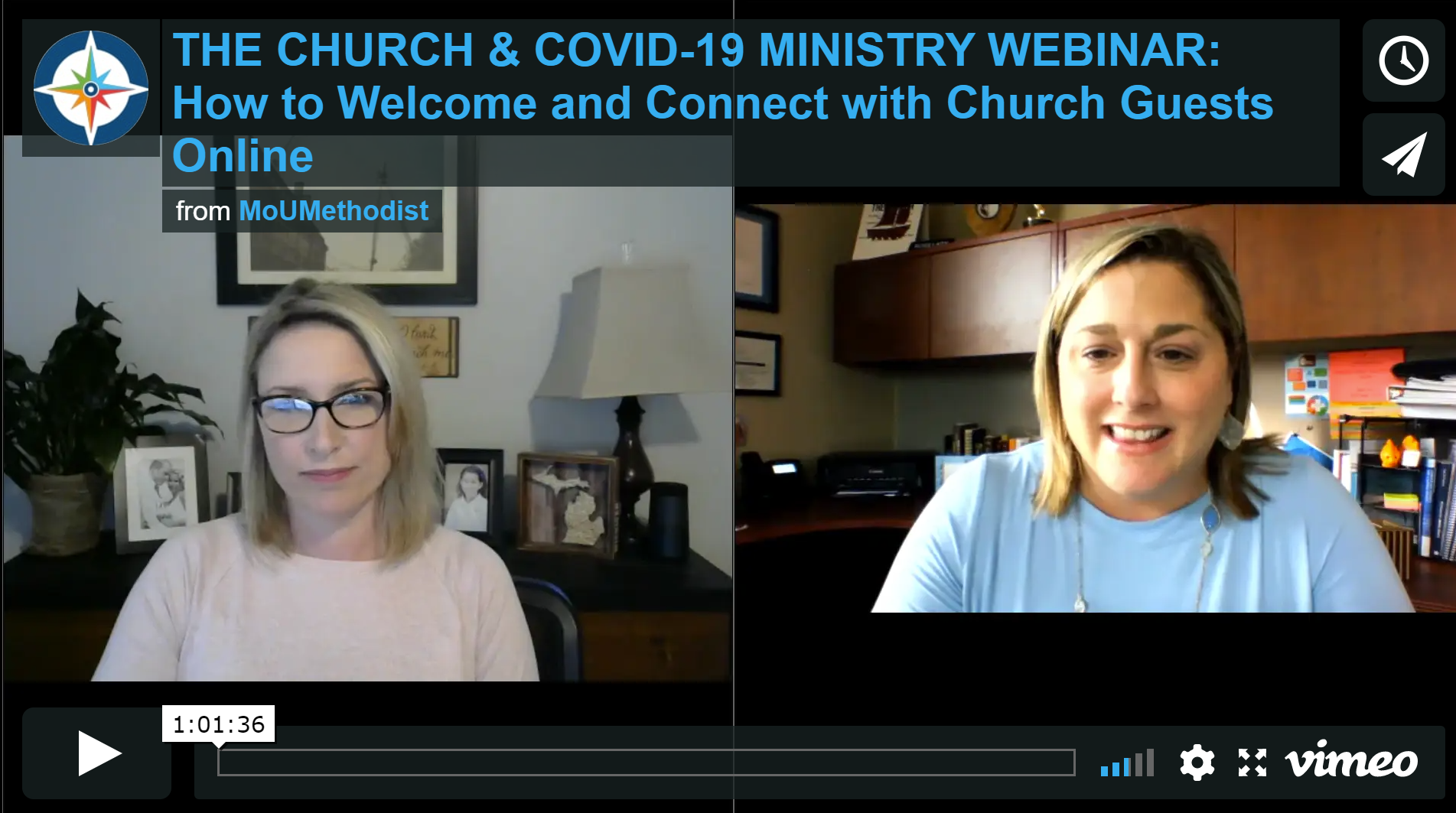 The Church & COVID-19 Ministry Webinar: How to Welcome and Connect with Church Guests Online